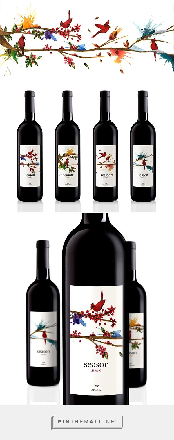 Season - wine on Behance curated by Packaging Diva PD. Love it!