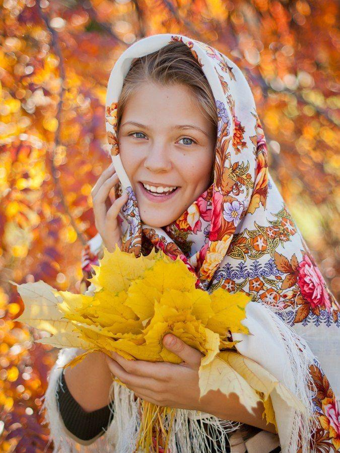 Осень в России.