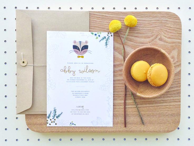 Baby Shower Invitation #Abby by Vignette Design