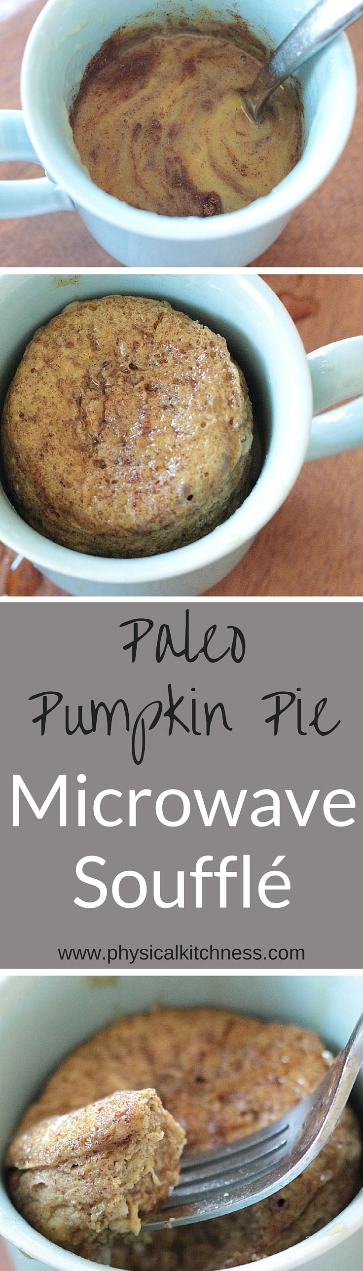 5-minute, Paleo Pumpkin Pie Microwave Soufflé. A warm and delicious, gluten-free, dairy-free breakfast