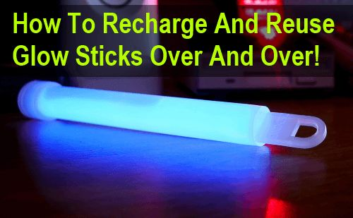 Whether you use glow sticks for fun or for tactical purposes, the fact remains that they are designed to be a single use disposable item… With this little trick you should be able to kind of recharge and reuse good quality glow sticks. Glow sticks tend to last anything from a few hours to …