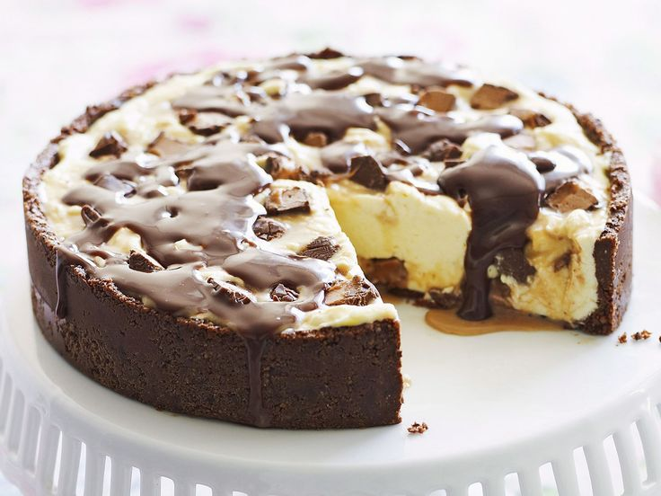 The only thing better than cheesecake is one packed full of Mars bar chocolate. A sweet tooth's delight!