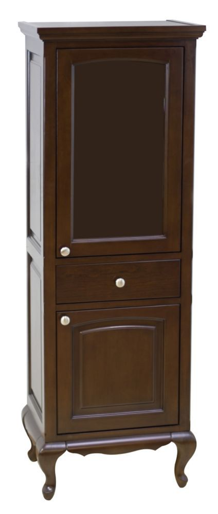 21.5 In. W X 63 In. H Traditional Birch Wood-Veneer Linen Tower In Walnut – Brus…  – Products