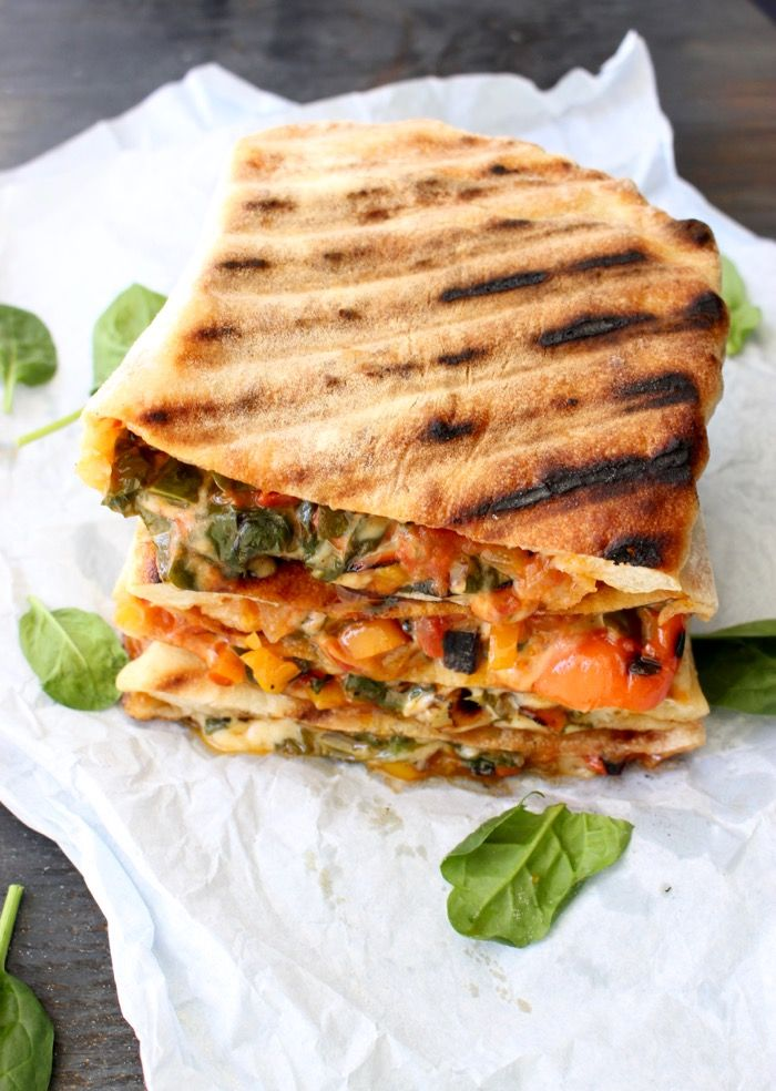Italian vegetarian calzone, pizza pockets stuffed with veggies and cheese and grilled in a cast iron skillet, a vegetarian's dream ! | CiaoFlorentina.com