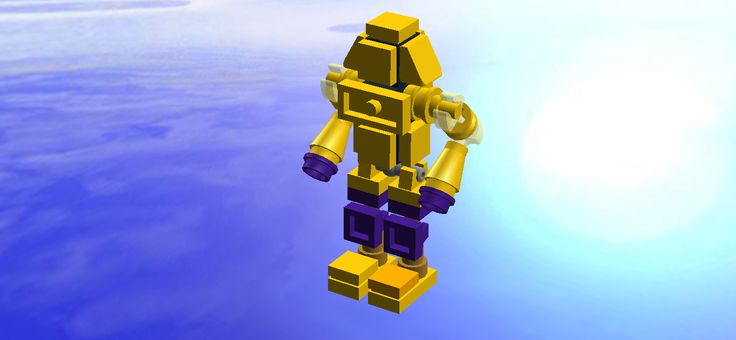 Lego Real steel mini Noisy Boy Gold