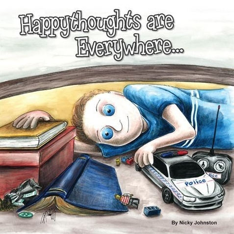 """Featured at Making Tough Time Easier, """"Happythoughts are Everywhere..."""" by Nicky Johnston, available at the TBYL Store"""