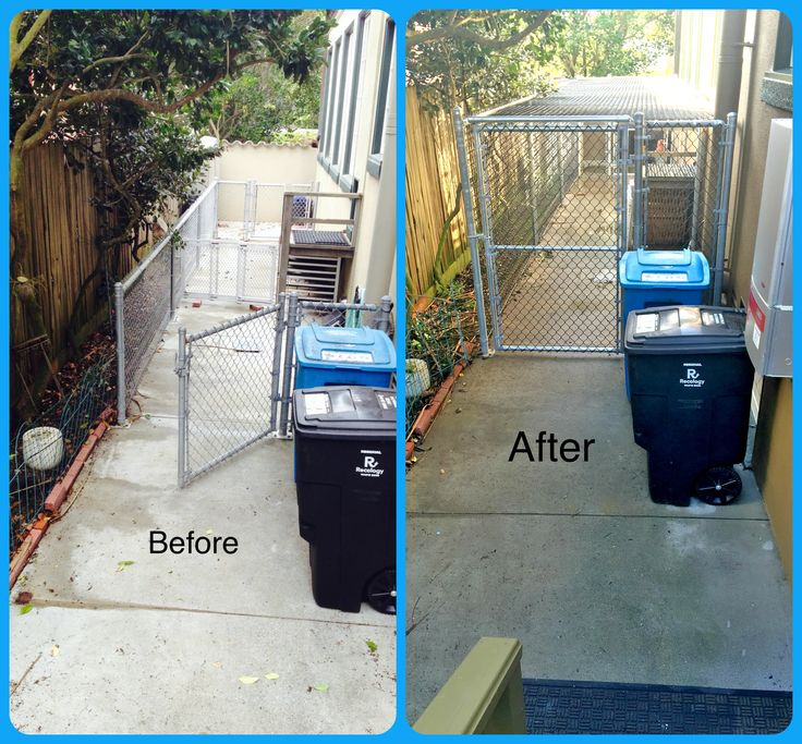Enclosed Predator Proof Dog Run. Before & After....Pre