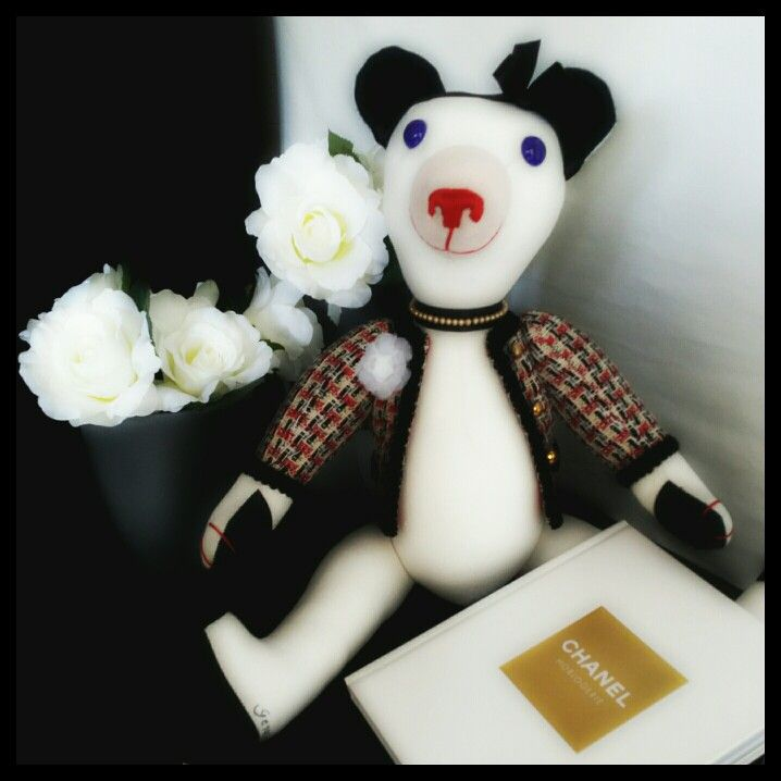 Coco is a a Chanel Teddy Bear collection, handmade by GSBears, Barcelona. Pure glamour!!