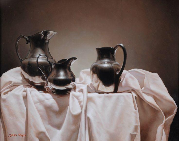 Jarras Flamencas. Oleo sobre lienzo. 40 x 50cm. 2013.