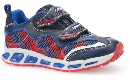 Geox Shuttle Navy Red Trainers