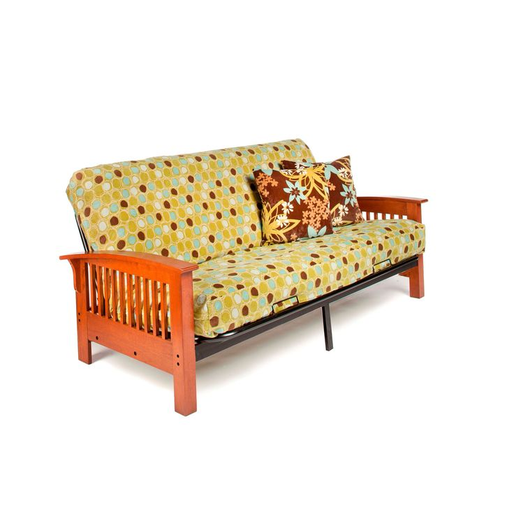 night and day furniture arbor full size futon frame with 7 inch mattress