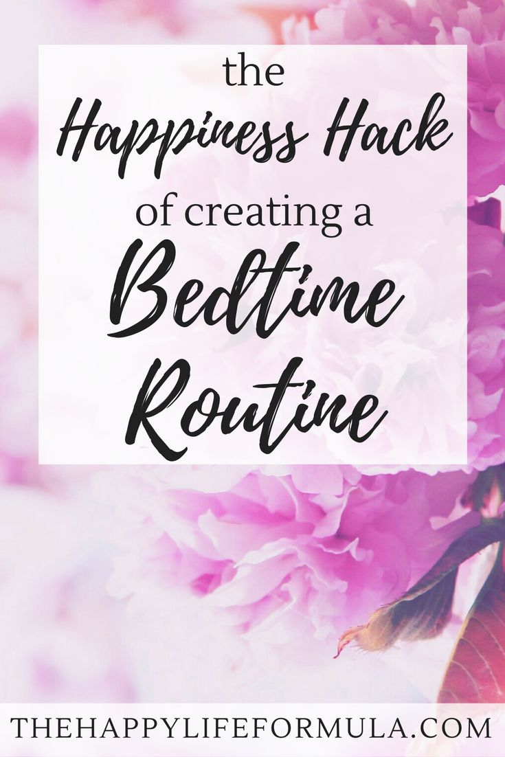 Creating a bedtime routine has helped me get a much better night's sleep. Find out how you can apply the happiness hack of creating a bedtime routine.