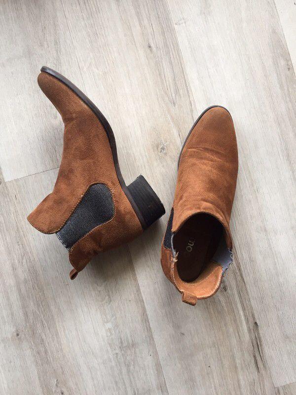 Bottines daim camel et gris pailleté   ! Taille 38  à seulement 10.00 €. Par ici : http://www.vinted.fr/chaussures-femmes/bottes-and-bottines/29725201-bottines-daim-camel-et-gris-paillete.