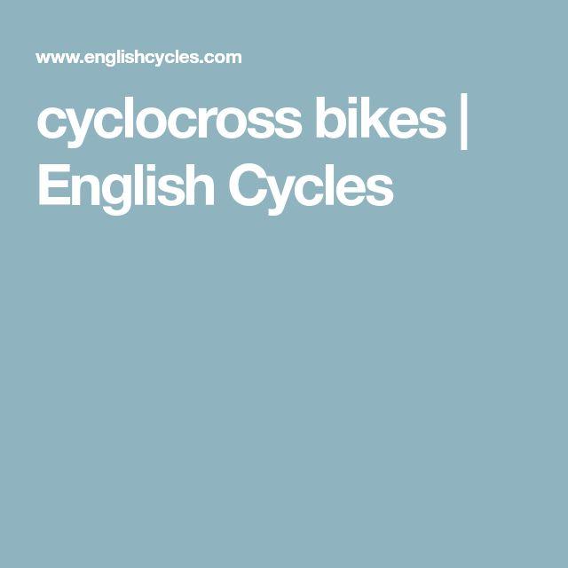 cyclocross bikes | English Cycles