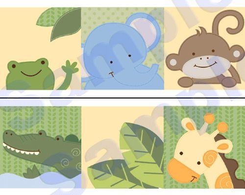 JUNGLE ANIMALS MONKEY WALL BORDER DECALS NURSERY BABY KIDS ROOM STICKERS DECOR | Baby, Nursery Décor, Wall Décor | eBay!