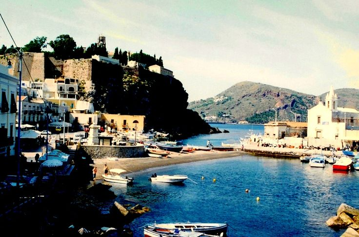 The harbor and castle of Lipari - Aeolian Islands - Italy