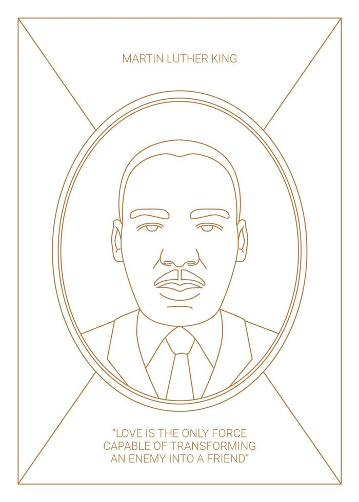 Martin Luther King Illustration