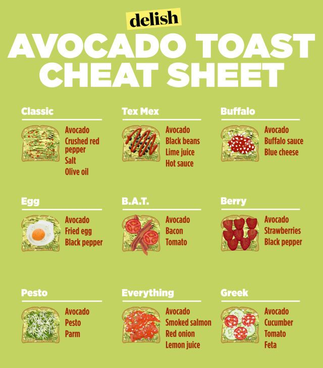 One golden rule to keep in mind: For all of these, mash the avocados with salt and lime juice, then top with ingredients.