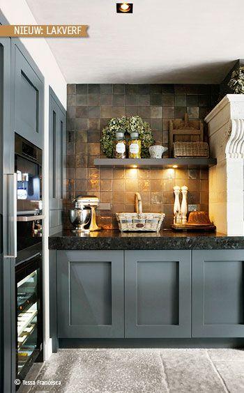 25 beste idee n over cottage stijl keukens op pinterest cottagestijl droomkeukens en modern for Cottage keuken
