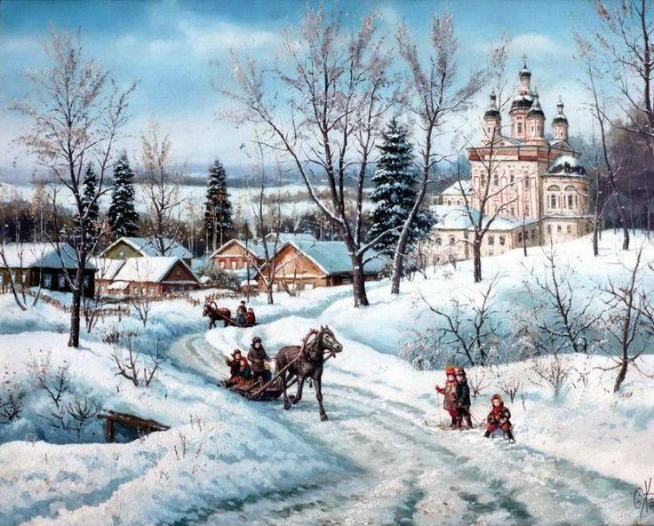 Зимой в России (живопись). Обсуждение на LiveInternet - Российский Сервис Онлайн-Дневников