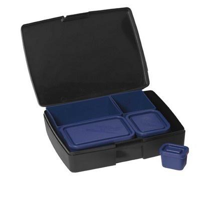 Laptop Lunchbox - Black/Blue