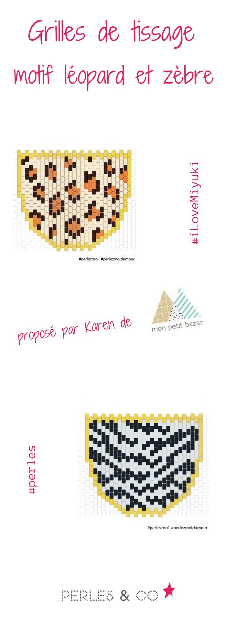 Débutez la technique de tissage en Peyote avec les motifs léopard et zèbre, proposés par Karen de Mon Petit Bazar. Le tissage de perles Miyuki permet de réaliser mille et un motifs. Retrouvez le tutoriel sur Perles & Co >> https://www.perlesandco.com/Sautoir_Animal_motif_Leopard_en_tissage_de_perles_Miyuki-s-2562-47.html
