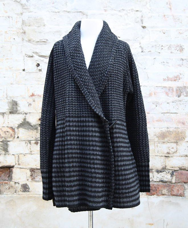 Charcoal and Slate Long Knitted Cardigan   Women's Fashion   Dresses, Tops and more   Et La Mer
