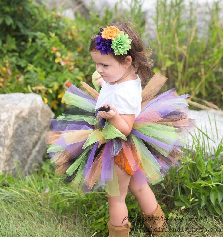 Halloween Baby Tutu and Flower Headband - Baby Witch Tutu Costume by TutuCaChu on Etsy