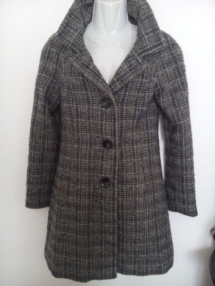 Cappotto lana firmato Sisley tagl.40,42