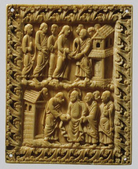 Two Scenes of Christ and Apostles. Carolingian (northern France) CA. 850-900.| The Metropolitan Museum of Art