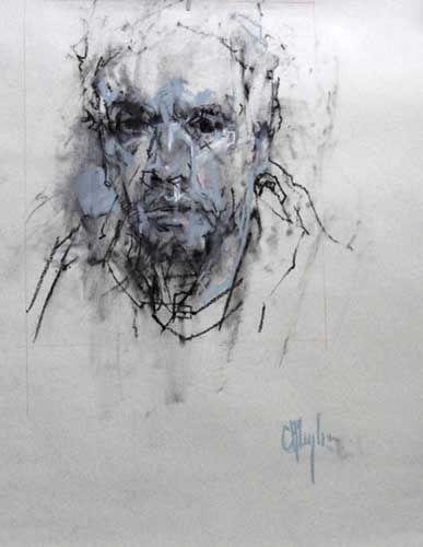 Self Portrait IV, chalk pastel, 22 x 17 inches