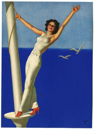Jazz Age Sea Breeze by Earl Moran - Vintage Art Deco Posters Gallery at I Desire Vintage Posters