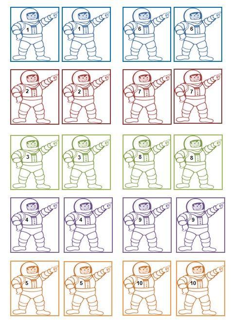 Begeleide of zelfstandige activiteit - Memorie astronauten