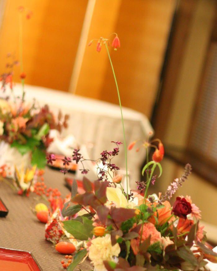 ベッセラ・エレガンス つきじ治作様への装花 : 一会 ウエディングの花