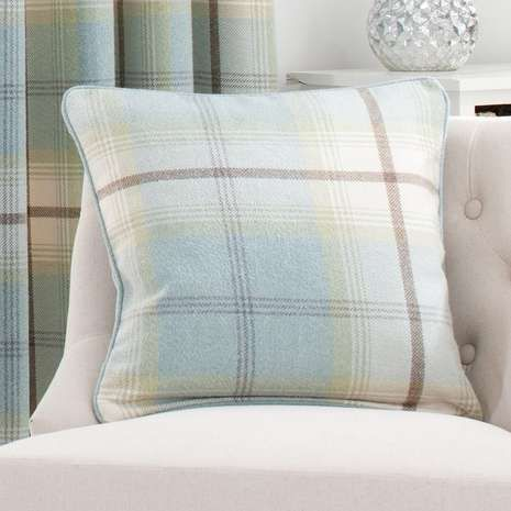 Highland Check Duck Egg Cushion Duck Egg Cushions