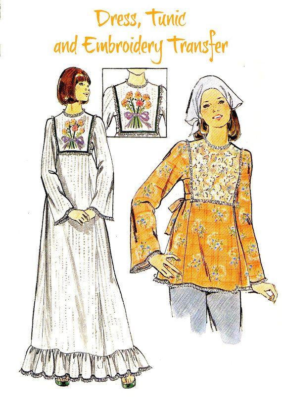 70s MISSES or JUNIORS Sewing Pattern with by KeepsakesStudio
