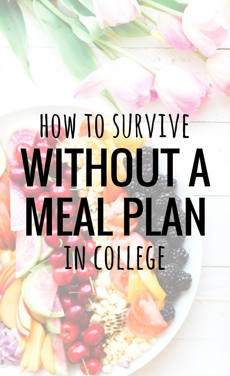 It can be hard to live without a meal plan in college! This guide will help college students save money and survive without a meal plan! #Collegegirlapartment