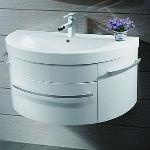 Boundary Bathrooms Curved Vanity Unit and Basin