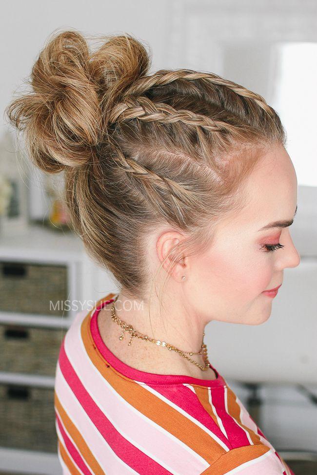 5 Dutch Braids High Bun High Bun Hairstyles Bun Hairstyles
