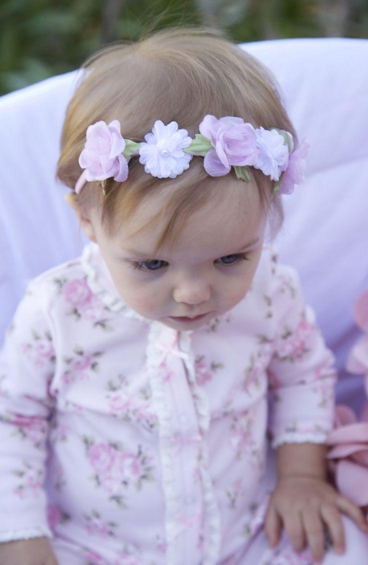 Precious floral headband.
