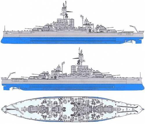 USS BB-38 Pennsylvania (Battleship) (1944)