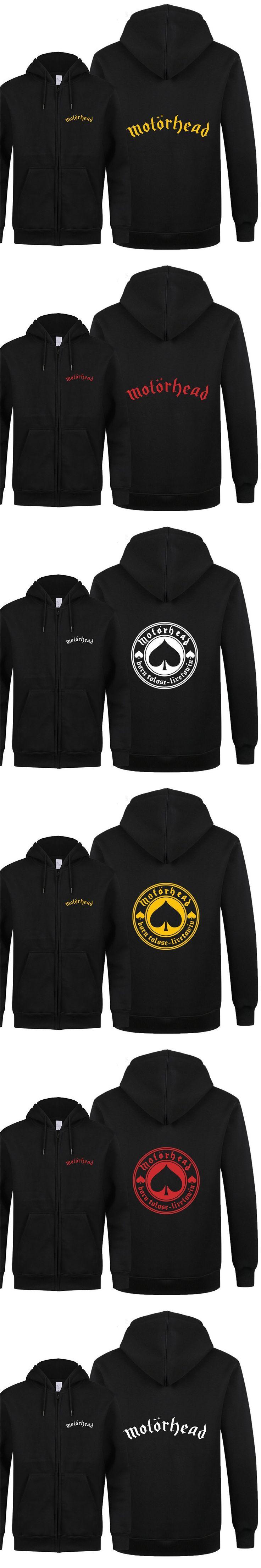 2018 Autumn Motorhead Fleece Sweatshirts Rock Band Born To Lose Live To Win Men Zipper Hoodies Punk Motorhead Men Hip Hop Coat J