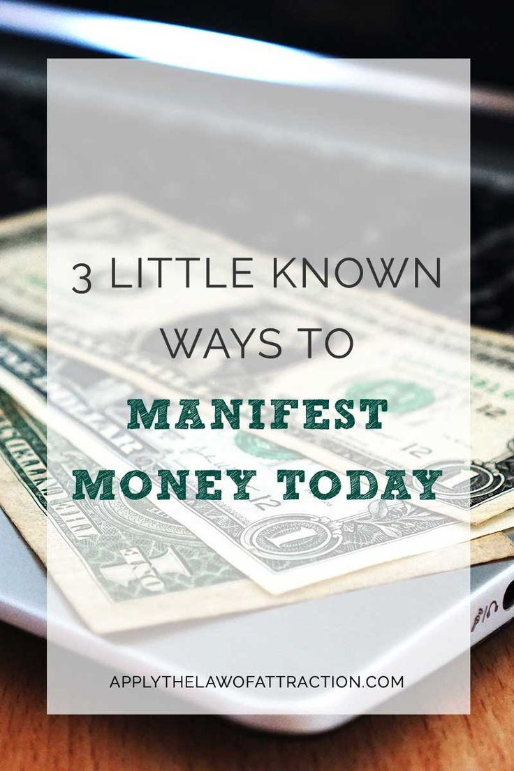How to Manifest Money Today
