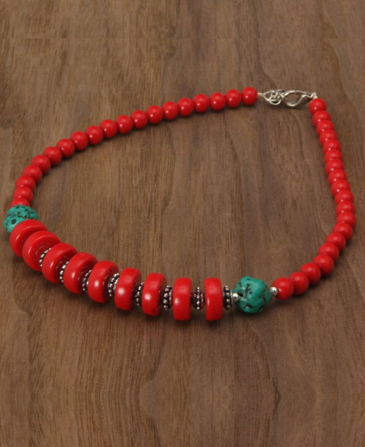 Jewelry From Nepal - I like the red with the turquoise