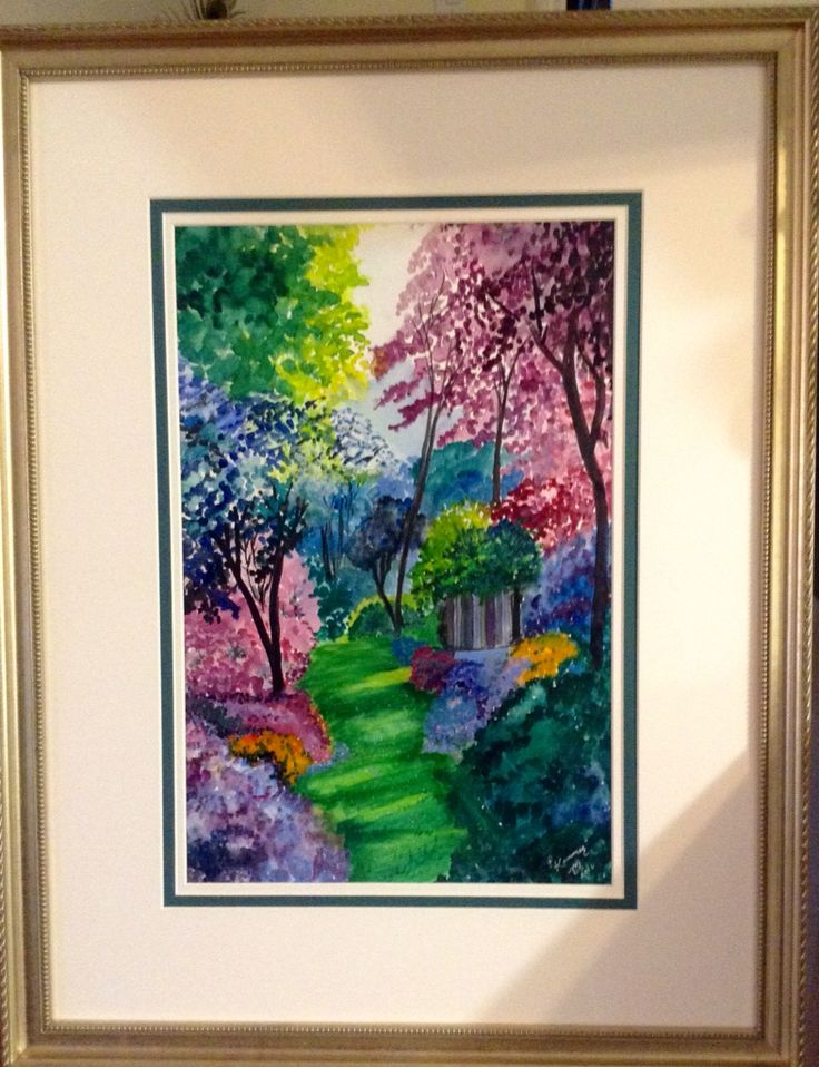 Watercolour secret garden by pat Kammer