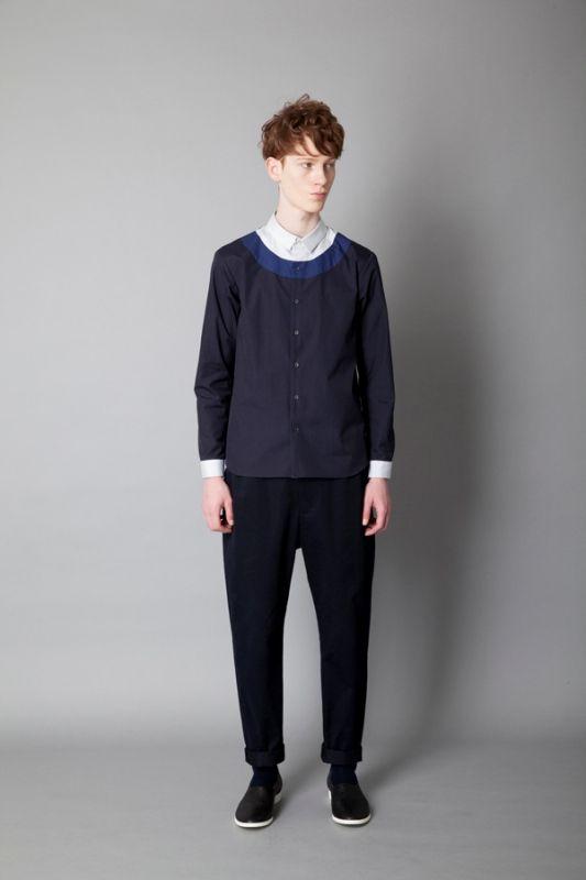 レイヤードフェイクシャツ(ETHOSENS) COL: Light Blue×Navy×Blue SIZE: 1,2 PRICE: ¥24,000(税抜) DEL: 8月入荷予定