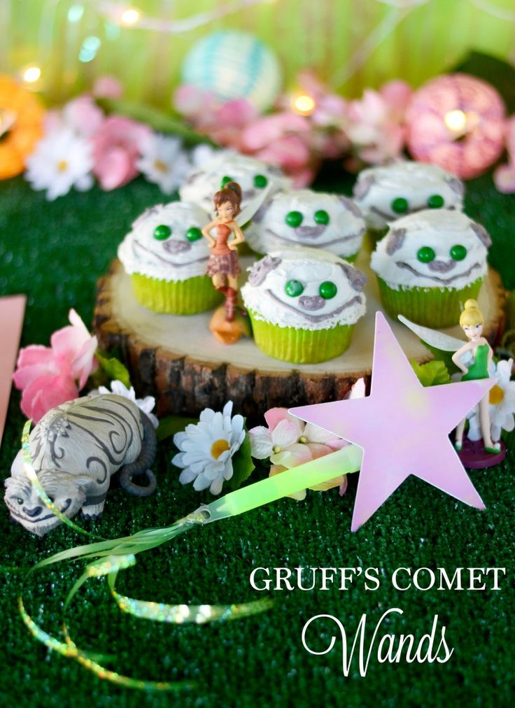It's a Pixie Hollow Party with Gruff's Comet Wands!