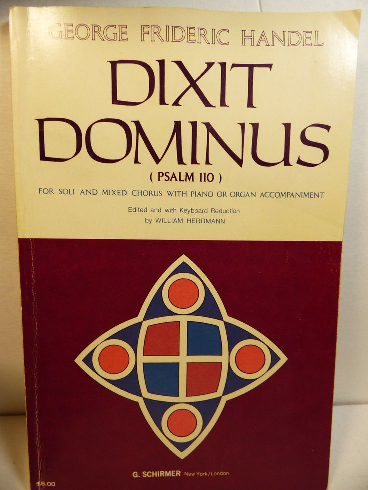 1975 Handel Dixit Dominus Psalm 110 Soli Mixed Chorus with Piano Organ Music | eBay