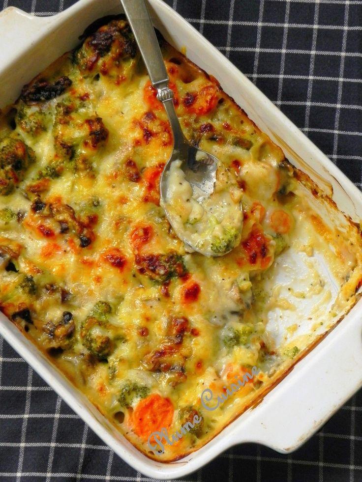 Gratin de légumes (champignons, brocolis, carottes) | Blog cuisine avec mes recettes antillaises faciles, et des recettes indiennes et exotiques.
