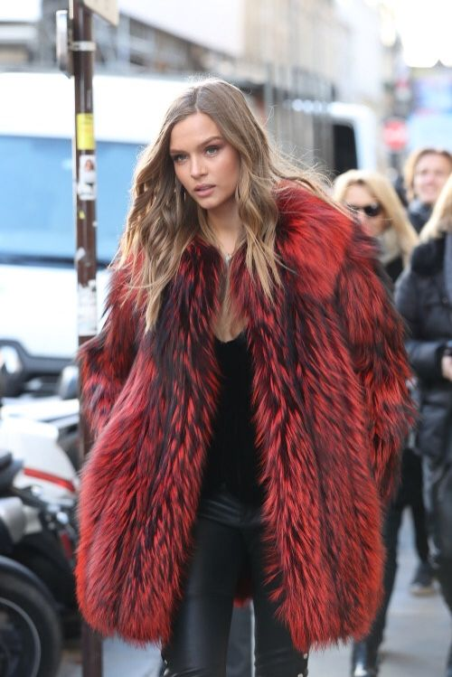 Best 25  Red faux fur coat ideas on Pinterest | Women's fur & faux ...